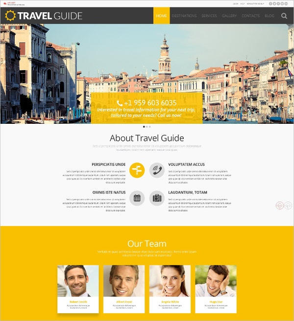 Travel Guide WordPress Theme $75