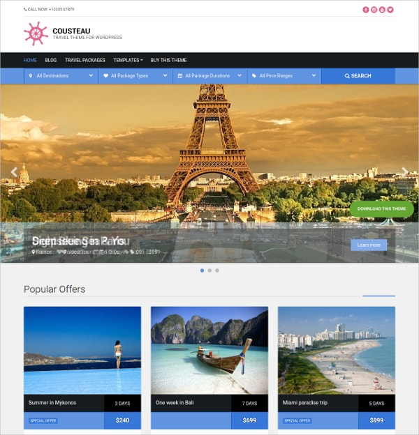 responsive travel wordpress website theme 49