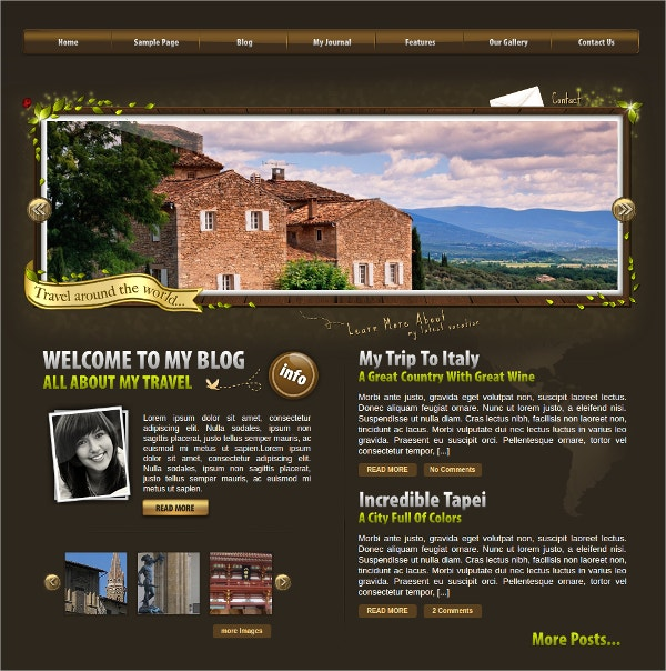 World Traveler WordPress Theme $39