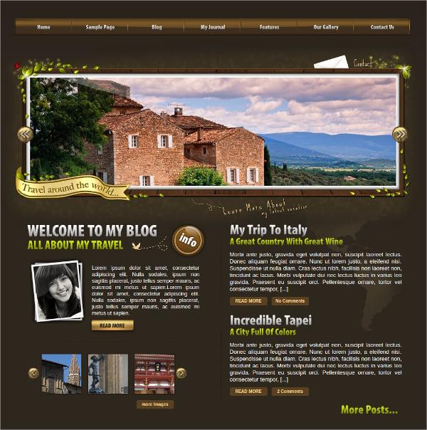 World Traveler WordPress Theme $39