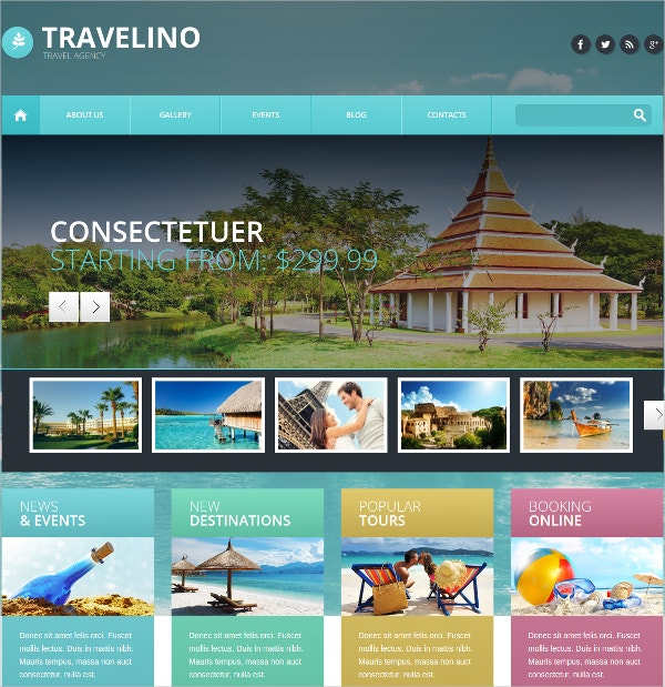 Travel Agency Portfolio WordPress Theme $39
