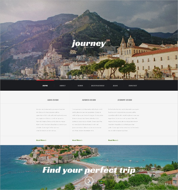 Premium Travel Agency WordPress Theme $75