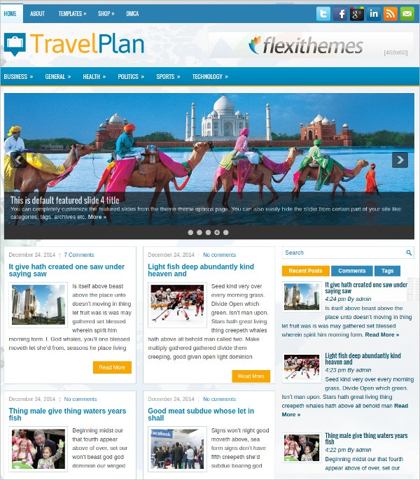 travel plan free responsive wordpress theme