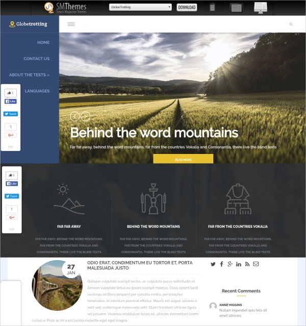 free travel agency wordpress theme