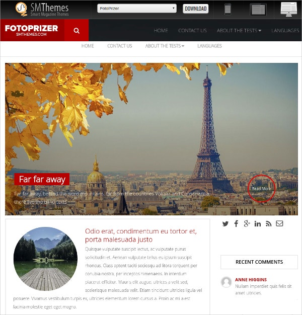 free photography travel wordpress theme