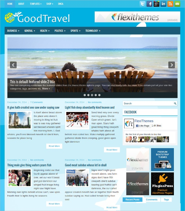 Good Travel Free Responsive WordPress Theme