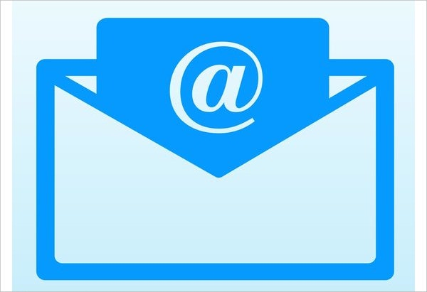 Free Download Email Icon Blue Color