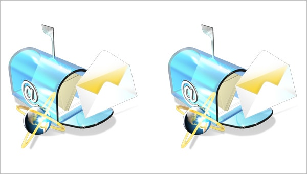New Style EMail Icon for Free in Formats