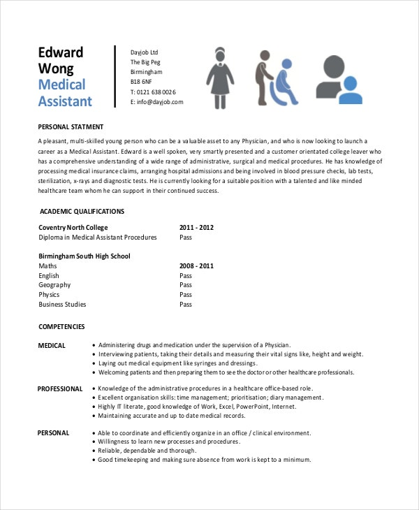 Student Entry Level Medical Assistant Resume Template  Medical Assistant Resume Template Free