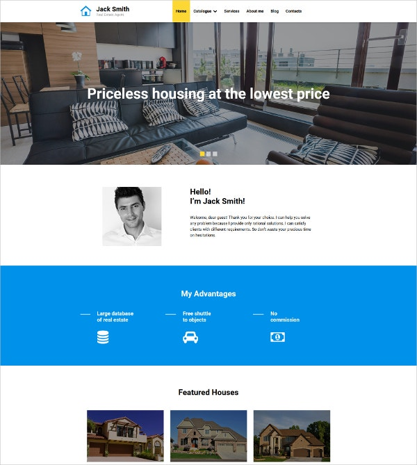 real estate agency moto cms 3 website template 199
