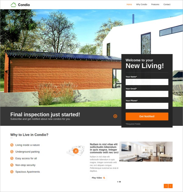 Single Property Apartment Real Estate WordPress Theme $44