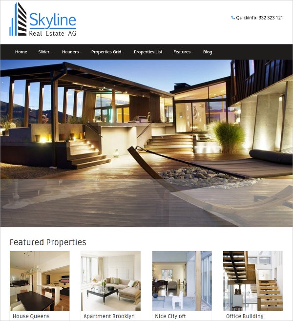 Portfolio Real Estate WordPress Theme $49