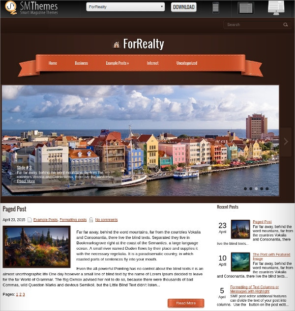 premium free real estate wordpress theme download