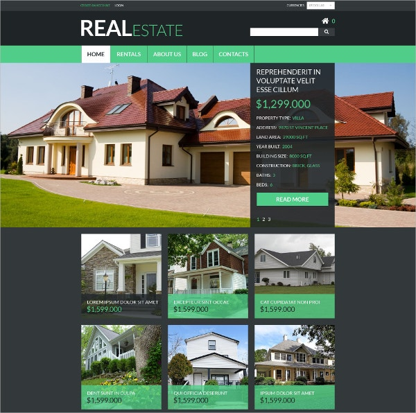 Real Estate Services VirtueMart Website Template $139