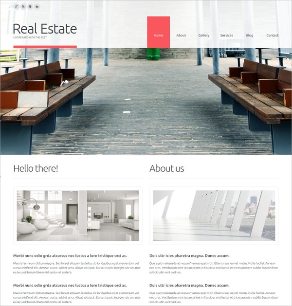 Real Estate Agency Services WordPress Theme $39