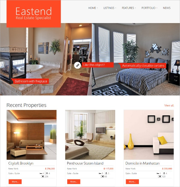 Real Estate Broker WordPress Theme $69