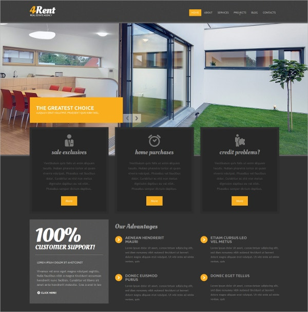 real estate agency responsive drupal website template 75