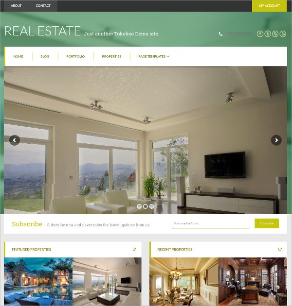 Business Woocommerce Real Estate WordPress Theme $59