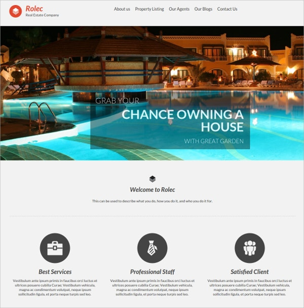 Real Estate Agency WordPress Theme $49