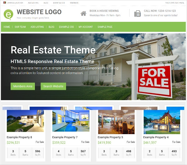 Real Estate Theme For WordPress $79