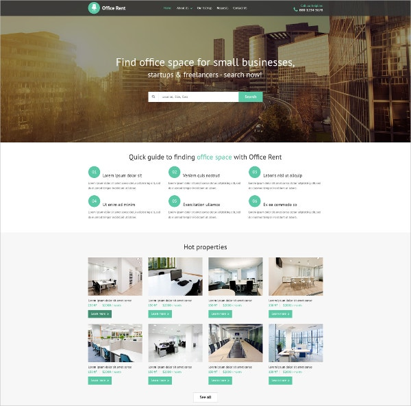 Small Business Real Estate Website Template $69