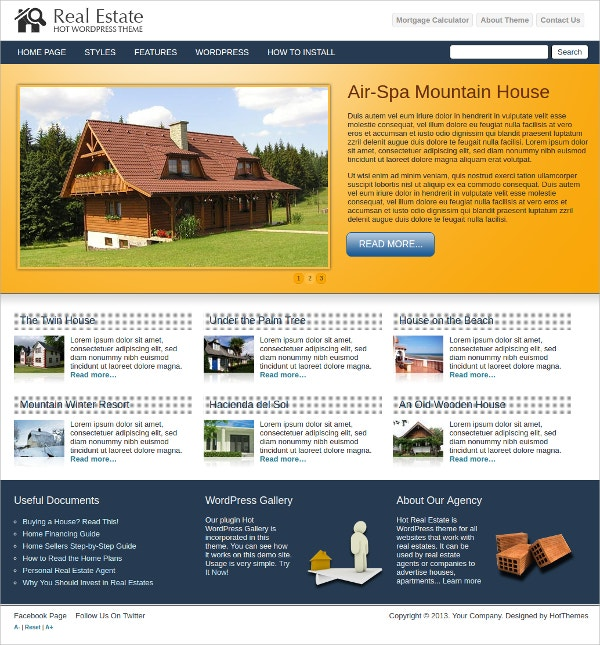 Impressive Real Estate WordPress Theme $39