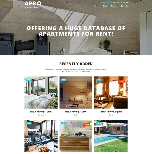 real estate business joomla website template 751