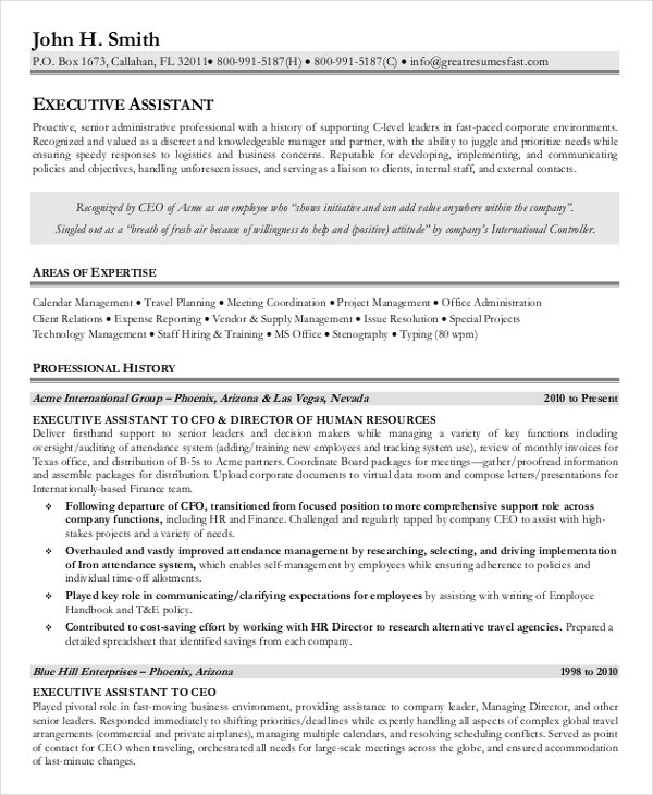 executive administrative assistant resume template pdf. Resume Example. Resume CV Cover Letter