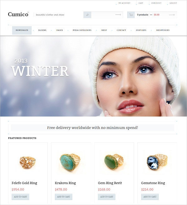 Business WordPress eCommerce Website Theme $59
