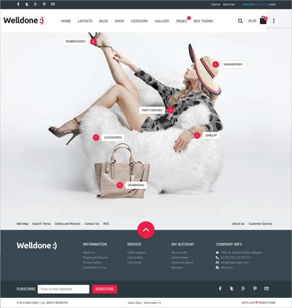 Fashion HTML eCommerce Website Theme $24