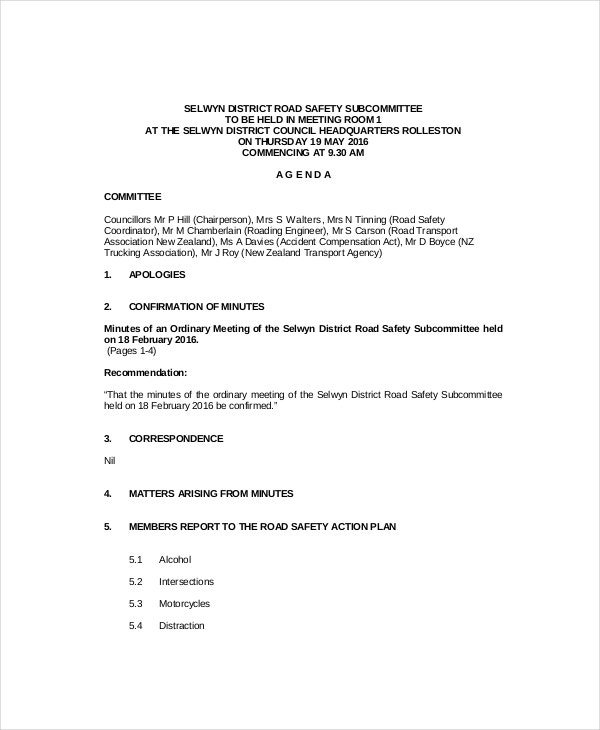 Meeting Agenda Format Staff Meeting Agenda Sample 7 Staff