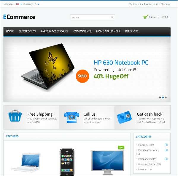 ecommerce opencart electronics website theme 391