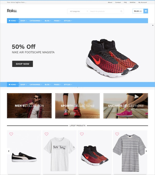 Foot Wear eCommerce WordPress Website Theme $39