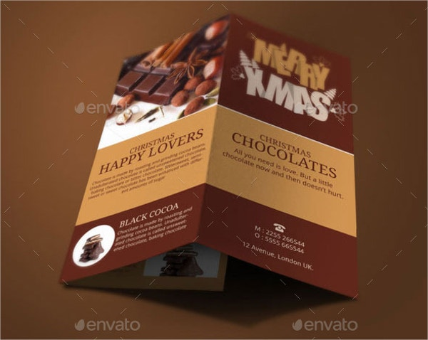 christmas chocolates brochure template