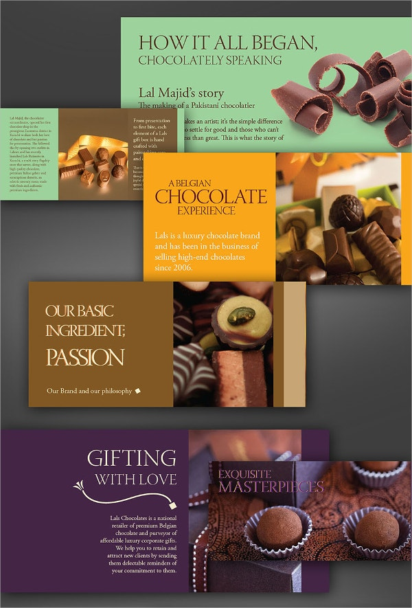 passionate chocolate brochure
