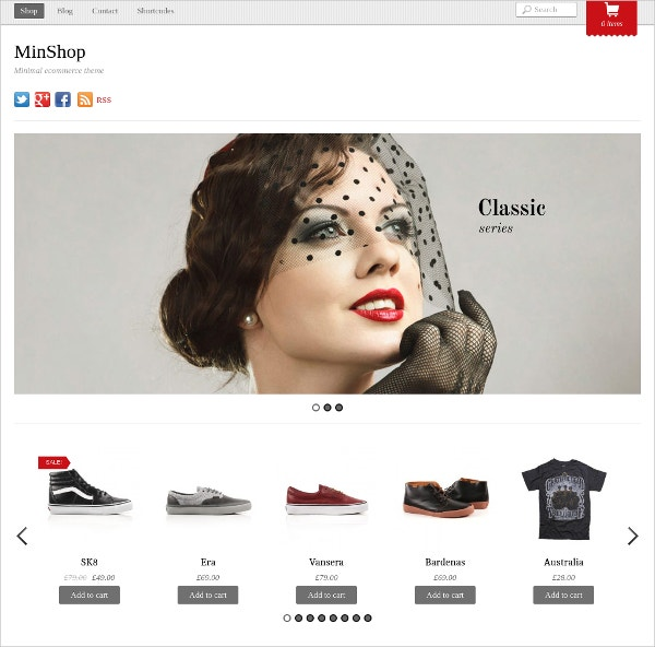 Minimal eCommerce Website Theme