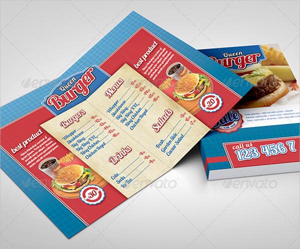 Fast Food Bifold Brochure