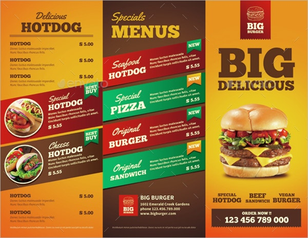 13 fast food brochures free psd ai eps format for Free food brochure templates