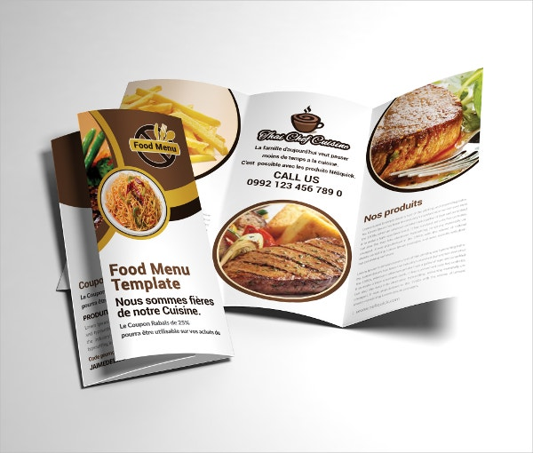 Fully Editable Fast Food Brochure