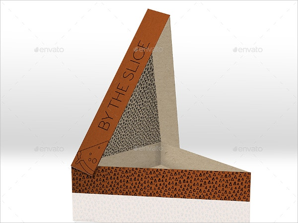 Triangle Pizza Box Template