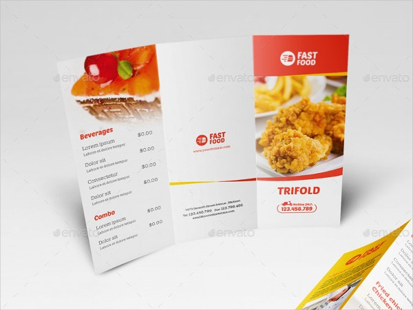 Catering Fast Food Brochure