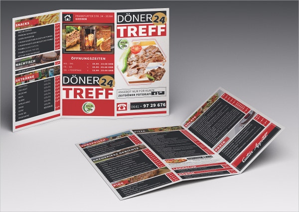 Cafe & Restaurant Fast Food Brochure