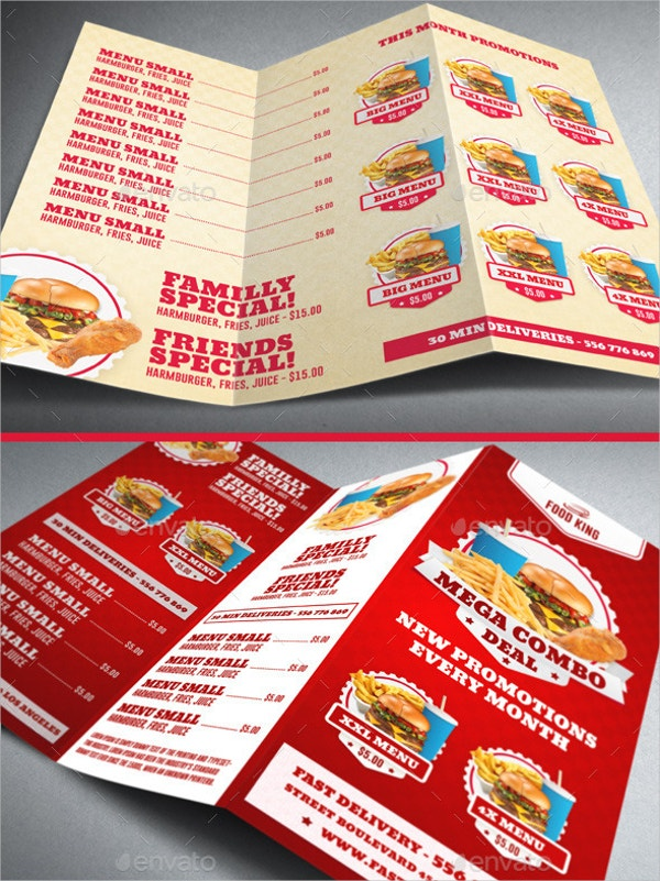 Restaurant Fast Food Brochure