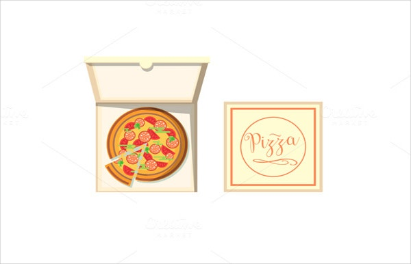 Cardboard Pizza Box Template