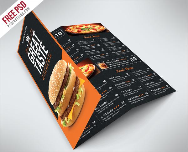 Fast Food Brochure Free PSD