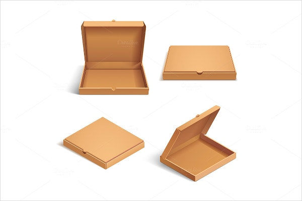 Realistic Pizza Box Template
