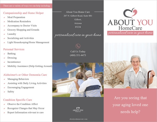 About You Home Care brochure