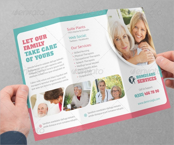 Home Care Brochure Free PSD AI EPS Format Download Free - Home care brochure template
