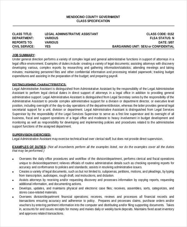 6 administrative assistant resume templates free