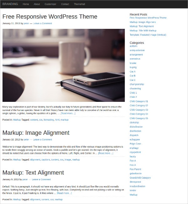 Powerful Mobile WordPress Website Theme